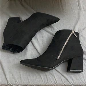 Forever 21 Faux Suede Side Zip Boots